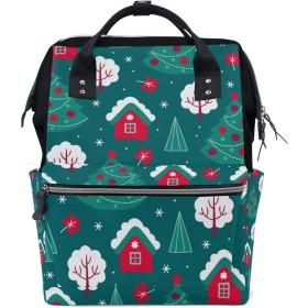 ママリュック クリスマスツリー 部屋 かわいい ミイラバッグ デイパック レディース 大容量 多機能 旅行用 看護バッグ 耐久性 防水 収納 調整可能 リュックサック 男女兼用