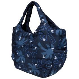 ハワイアン バッグ ハワイアン雑貨 フララニ 中綿トートバッグ マザーズバッグ スナップタイプ(ヤシ 椰子/ネイビー) 191HU4BG026 サーフブランド バッグ