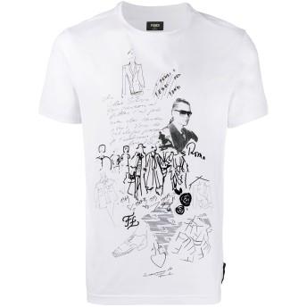 Fendi Karl Kollage Tシャツ - ホワイト