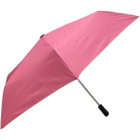 <ベーシック 折畳み自動開閉傘> ワンタッチで開閉  簡単折り畳み (ピンク)