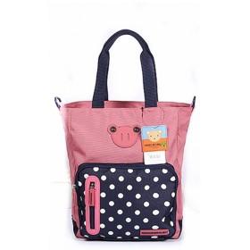 Cute Minorマザーズバッグ 2way 大容量 ドット柄 ママバック トート ショルダーマザーズバッグ マザーバッグサブバック おむつ替えシート おむつポーチトート多機能 (ピンク)