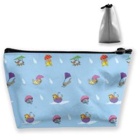 猫と犬 収納ポーチ 化粧ポーチ トラベルポーチ 小物入れ 小財布 防水 大容量 旅行 おしゃれ