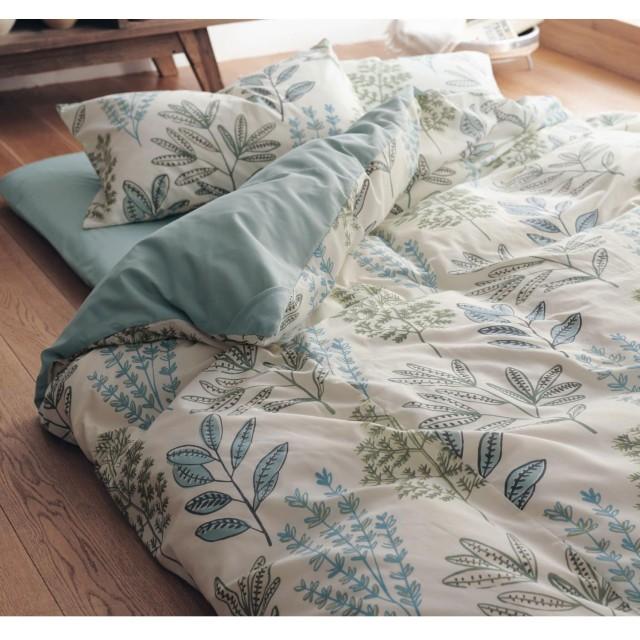 [ベルメゾン] 寝具カバーセット 布団カバー3点セット(裏面綿混素材) リーフ サイズ:和式シングル