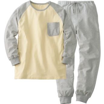 50%OFF【レディース】 のびのび素材Tタイプパジャマ(男女兼用) - セシール ■カラー:グレー系 ■サイズ:LL,3L