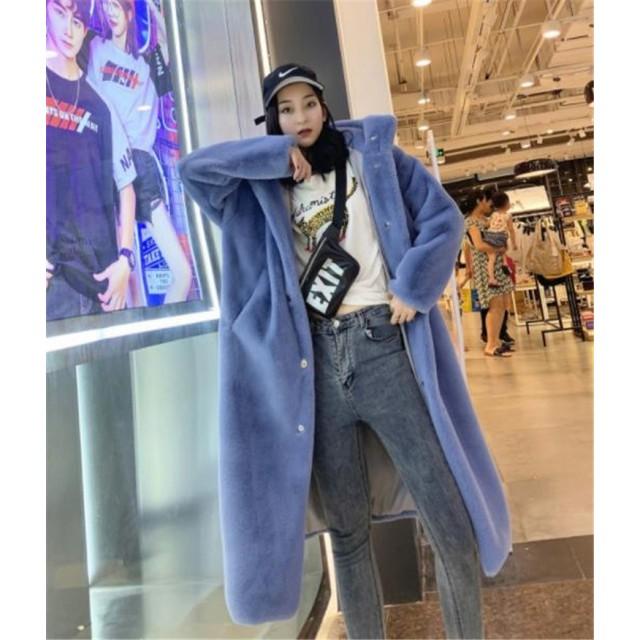 おしゃれの必需品 韓国ファッション 気質 大人気 おしゃれな トレンド 新品 ミンク フェイクファー 厚手 防寒 ロングセクション チェスターコート