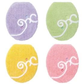 ●(内野)UCHINO color decor(カラーデコール) ラペ トイレフタカバー(普通型) イエロー