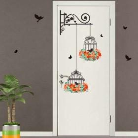 Dragon Honor ウォールステッカー 綺麗 鳥かご 小鳥 自然風 玄関 店舗用 おしゃれ インテリア雑貨 飾り 壁紙シール タイルシール 壁の装飾 はがせる 環境保護