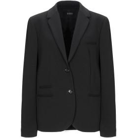 《セール開催中》SEVENTY SERGIO TEGON レディース テーラードジャケット ブラック 48 ポリエステル 63% / レーヨン 33% / ポリウレタン 4%
