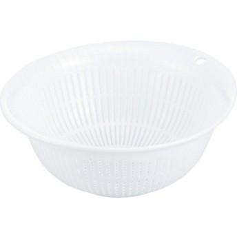 リス 『調理用ザル24cm』 HOME&HOME ザル24 パールホワイト 抗菌加工