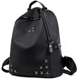 【ユウエ】リュックサック リュック 女性用 レディースリュック デイパック 鞄 かばん ショルダーバッグ ぬいぐるみ付き 撥水加工 大容量 通勤通学 018-mgls-l-3(F ブラック )