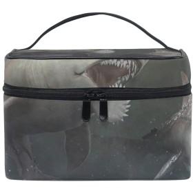 メイクポーチ かっこいいのサメ 化粧ポーチ 化粧箱 バニティポーチ コスメポーチ 化粧品 収納 雑貨 小物入れ 女性 超軽量 機能的 大容量