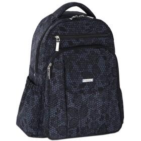 C-Weiwei マザーズバッグ リュック 大容量 通勤 通学 シンプル カジュアル ママのバックパック 旅行 ナイロン花柄プリント (Dグレー)