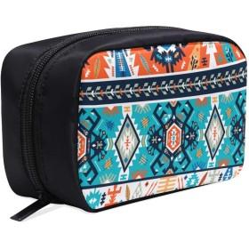 GGSXD メイクポーチ 色付きの幾何学 なストライプ ボックス コスメ収納 化粧品収納ケース 大容量 収納 化粧品入れ 化粧バッグ 旅行用 メイクブラシバッグ 化粧箱 持ち運び便利 プロ用