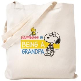 CafePress–Happiness is being aおじいちゃん–ナチュラルキャンバストートバッグ、布ショッピングバッグ S ベージュ 1557988508DECC2