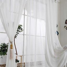 ファーネスガーゼカーテンのカーテンホワイトガーゼは、カスタムガーゼ仕上げのガーゼ2パック (色 : A, サイズ さいず : W3.0H2.7M)