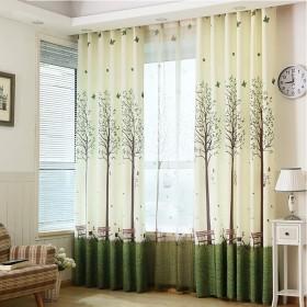 カーテン窓カーテンガーゼベッドルーム陰干し布プリーツブラインド遮光カーテン、リビングルームバルコニー寝室装飾窓 (色 : A, サイズ さいず : 2W1.5H2.7M)