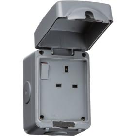 Knightsbridge IPAV7000 IP66 13A 1G DPスイッチドソケット
