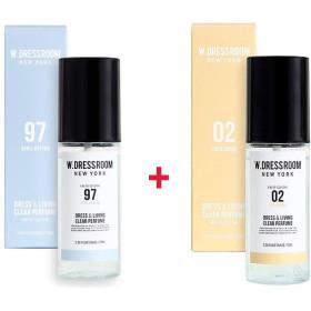 W.DRESSROOM Dress & Living Clear Perfume 70ml (No 97 April Cotton)+(No .02 Coco Conut)