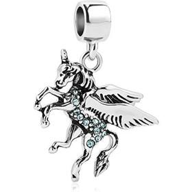 reisjewelry Loveユニコーンチャーム動物のチャームビーズブレスレット