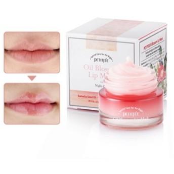 PETITFEE(プチペ) オイルブロッサムリップマスクツバキオイル 15g/ Petitfee Oil Blossom Lip Mask Camellia Oil 15g [並行輸入品]
