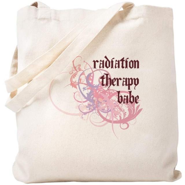 CafePress Radiation Therapy Babe トートバッグ S ベージュ 0286993728DECC2