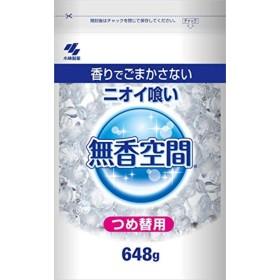 (まとめ買い)小林製薬 消臭剤 無香空間 特大 詰め替えパウチ 648g 【×40セット】