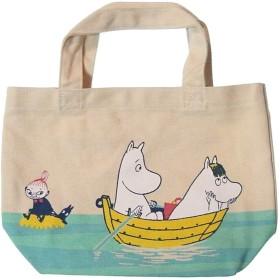 MOOMIN ムーミン - 帆布のミニトート バッグ 手提げ袋 #ボート スノーク嬢 フローレン〈ブルー 青〉