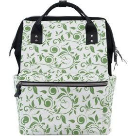 ママバッグ マザーズバッグ リュックサック ハンドバッグ 旅行用 木の葉柄 可愛い ファション