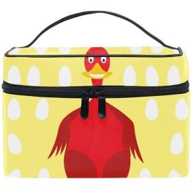 コスメポーチ 化粧品収納バッグ 洗面用具 おしゃれRed Chicken