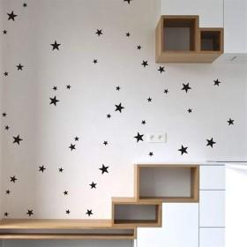 Juexianggou DIYウォールアートデカール、子供寝室保育園五芒星のウォールステッカー (Color : Gold)