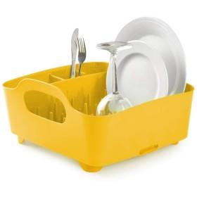 キッチン ドリップトレイ、食器収納ボックスキッチンドレン、利用できる複数の色が付いている皿の排水容器 組織 (サイズ さいず : 黄)