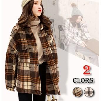 2019年初秋の新しいコートの女性の春の格子縞のシャツ長袖シャツ韓国版insの潮女性の多目的ネット赤