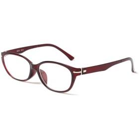 MIDI-ミディ 老眼鏡 UVカット 大きめのレンズを使った緩やかなラインのキャットアイフレーム リーディンググラス レディース チェリーレッド 度数+1.25 (m111,c2,+1.25)