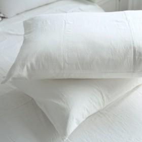 高級ホテル品質 無地 ピローケース 枕カバー ホワイト 48cm74cm(2枚セット)