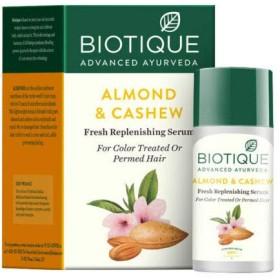 Biotique Bio Almond & Cashew Fresh Replenishing Serum 40 ml For Permed Hair パーマ髪のためのBiotiqueバイオアーモンド&カシューナッツ新鮮な補給血清
