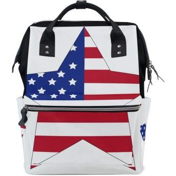 ママリュック ほし 国旗 きれい ミイラバッグ デイパック レディース 大容量 多機能 旅行用 看護バッグ 耐久性 防水 収納 調整可能 リュックサック 男女兼用