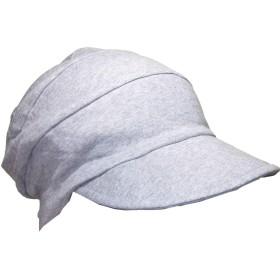 抗がん剤帽子 オーガニック 医療用帽子/段々キャスケット杢グレー/医療帽子 プレジール