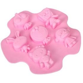 Celleco 食品グレードシリコーン型6漫画のキャラクター形状アイス型ケーキ型モールドソフトキャンディーベーキングツールプリンゼリー型チョコレート型手作り石鹸型チーズ型ホームクリエイティブDIY製氷皿型ベーキング型冷凍型食品グレード赤ちゃん子供作る健康と安全は夏を作る冷たい飲み物の誕生日パーティーやさまざまなパーティーに最適 ご愛顧ありがとうございました