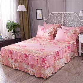 QXJR ラップアラウンドスタイル ベッドスカート,シワ ベッドスカート,ベッド用品 いベッドスカート シングル,フリル シート,いベッドマットレ 寝具 ベッドルーム-B-E120200センチメートル