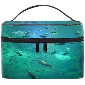 コスメポーチ 化粧品収納バッグ 洗面用具 おしゃれ魚たち