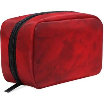 化粧品ポーチ 赤い 仕切り付き 大容量 機能性 軽量 人気 収納バッグ  レディース トラベル 雑貨 小物入れ 防水 ストレージポーチ 携帯便利 日用品 旅行 出張用 メイクポーチ