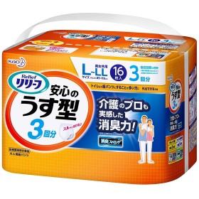 【花王】リリーフ はつらつパンツ 安心のうす型L-LLサイズ (16枚) ×5個セット