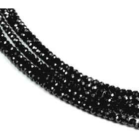 新宿銀の蔵 ブラックスピネル 3×2mm 天然石 ビーズ (ボタンカット) 30玉セット 天然石 パワーストーン ハンドメイド 素材 材料