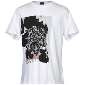 《期間限定セール開催中!》JUST CAVALLI メンズ T シャツ ホワイト L コットン 100%