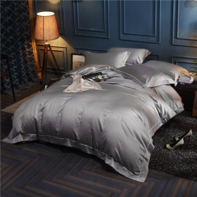 寝具カバーセット 和式 無地 天然サテン そして コツトン 布団カバー 4点セット ベッド用 枕カバー 掛けカバー ボックスシーツ 四節通用 おしゃれ 四節通用 抗菌
