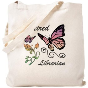 CafePress Retired Librarian トートバッグ S ベージュ 1652037700DECC2