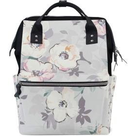 ママリュック 花柄 おしゃれ かわいい ミイラバッグ デイパック レディース 大容量 多機能 旅行用 看護バッグ 耐久性 防水 収納 調整可能 リュックサック 男女兼用