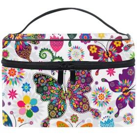 化粧ポーチ 化粧品 収納 コスメポーチ レディース ポーチ 大容量 軽量 防水蝶