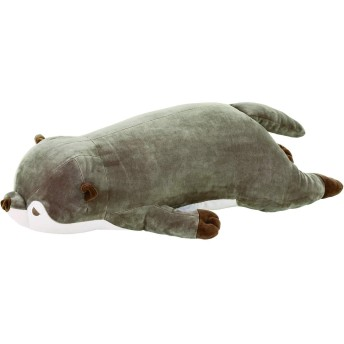 りぶはあと 抱き枕 プレミアムねむねむアニマルズ カワウソのくるり Lサイズ W73xD30xH20cm 58208-33