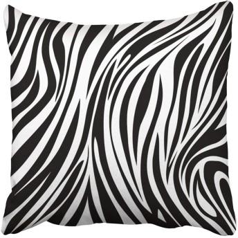 投げ枕カバー装飾ポリエステル45 x 45 cm黒動物ゼブラ柄ホワイトジャングルクッション枕ケーススクエア両面印刷用ホーム